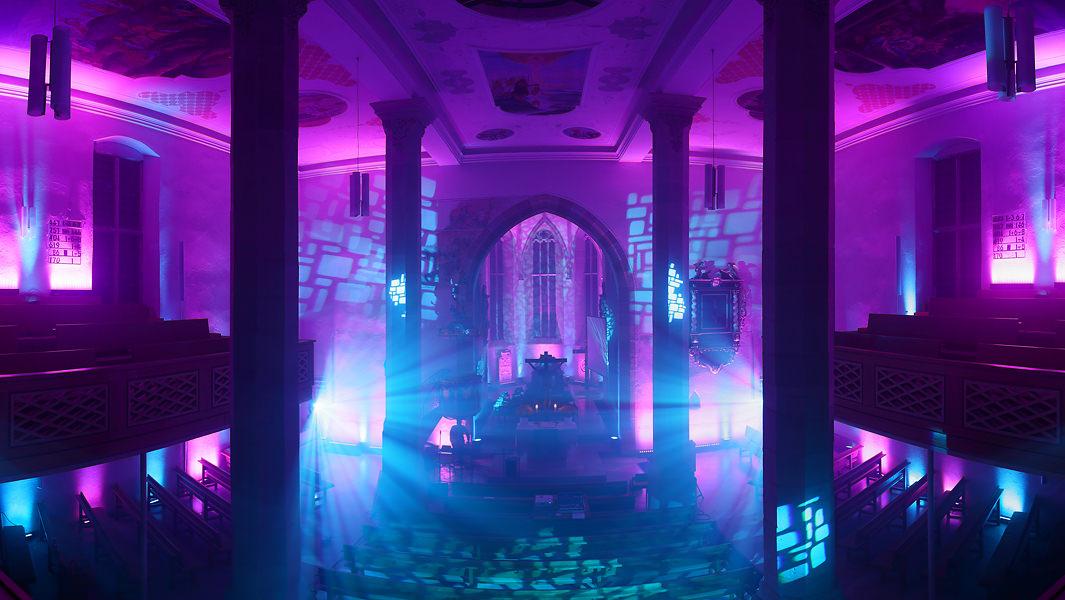 prachtvolle Kirchenillumination