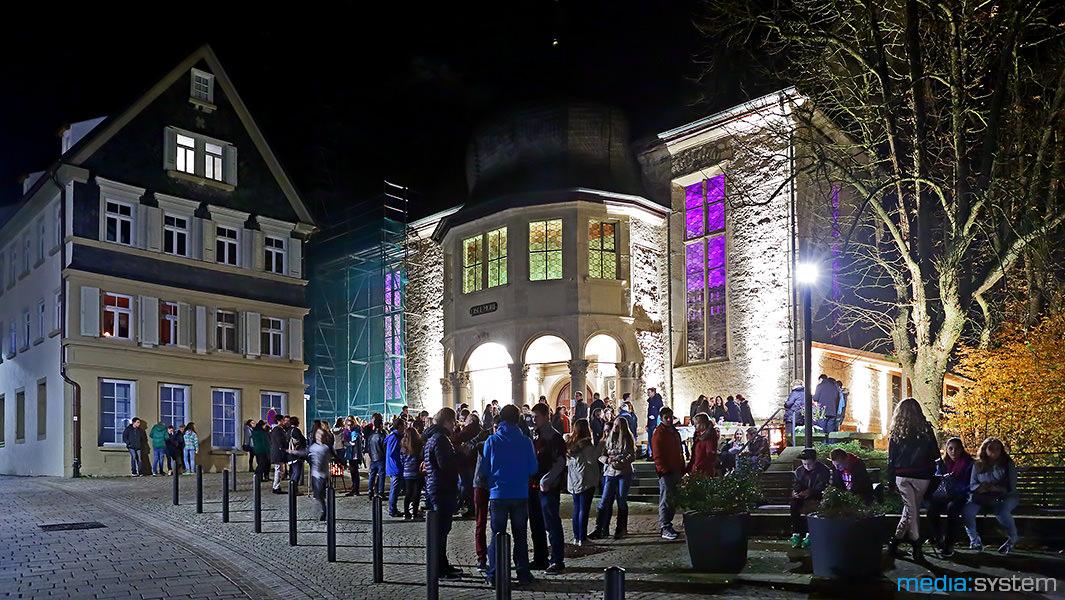 illuminierte Kirche