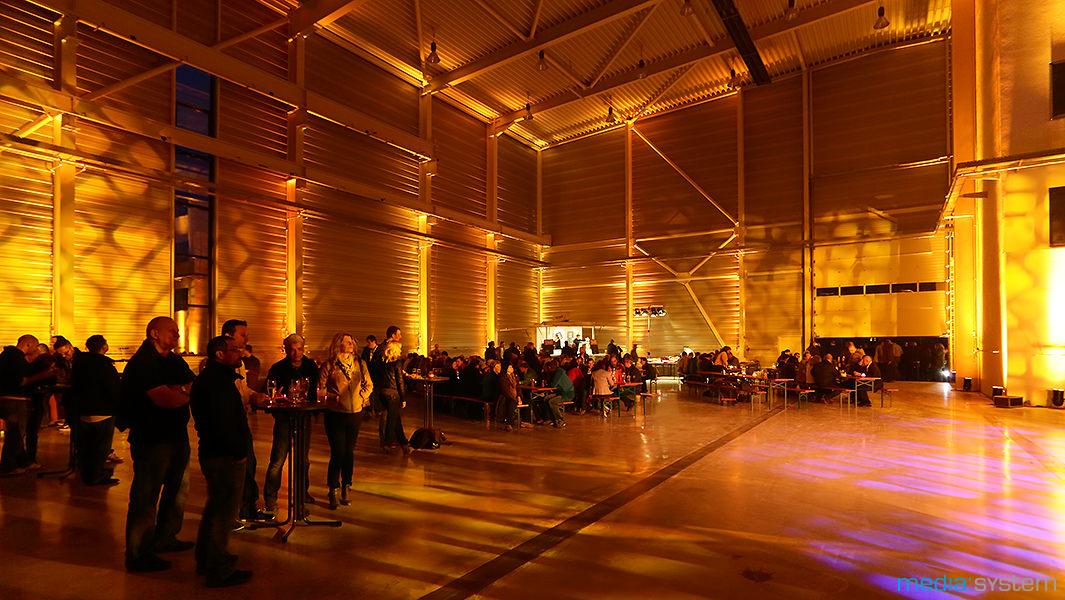 Gebäudeillumination beim Polterabend