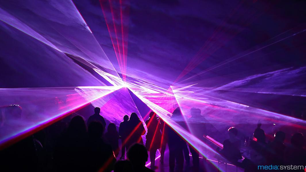 Lasershow zum Polterabend