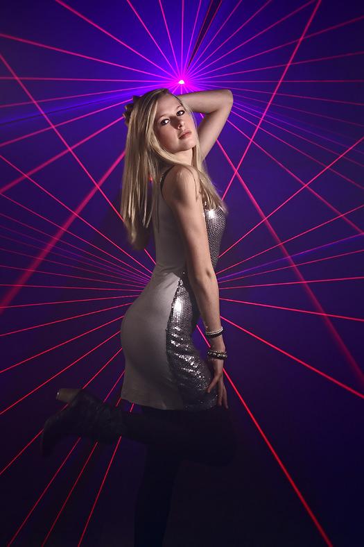 Fotoshooting mit Laser