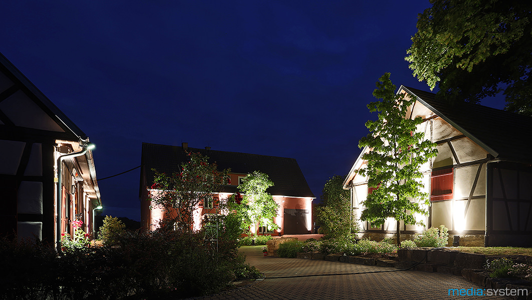 Gebäudeillumination bei der Hüttengaudi