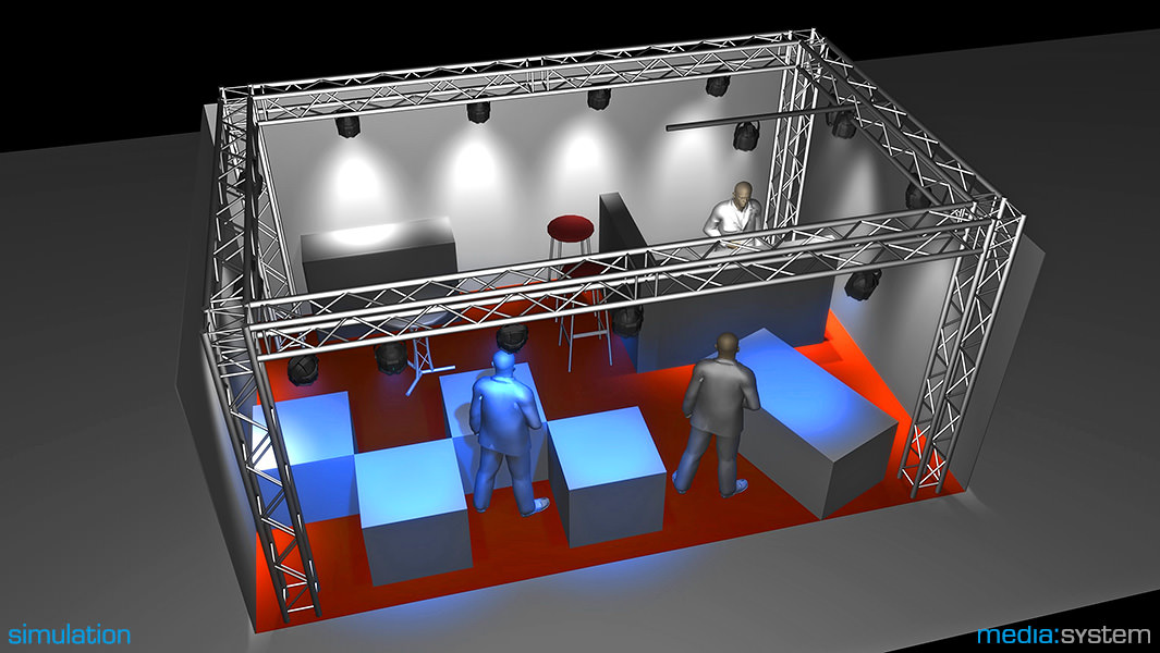 3-D-Simulation Messestand der Firma MKG Göbel